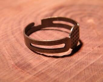 5 medium ring dish set of 8 mm - bronze - adjustable 17 mm PF158