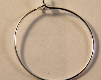 4 rings holders / bright 20 mm silver hoops