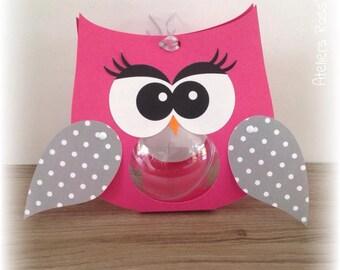 owls ball fuchsia + wings pattern 121
