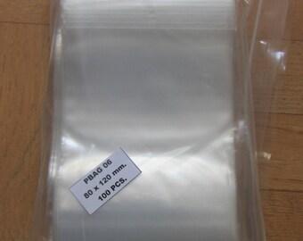 set of 100 bags minigrip 80 x 120 cm