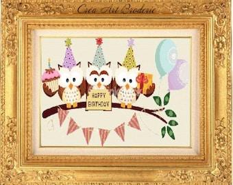 Birthday counted cross stitch
