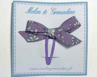 1 hair clip - Clack Liberty Capel purple bow