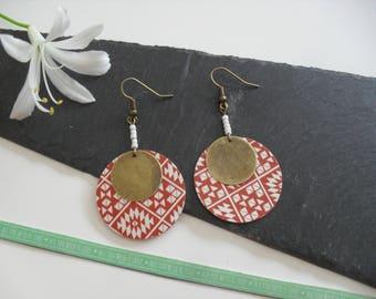 Earrings paper sequin