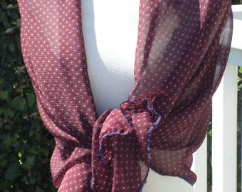 Shawl woman nice Burgundy wedding