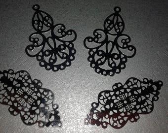 8 prints pendants stainless steel 48 / 52mm