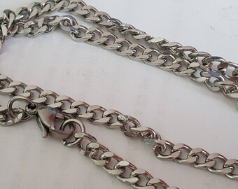 1 silver chain 45 cm stainless steel necklace
