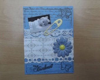 Small card, decor for your scrapbooking creations.