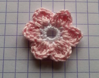 Crochet applique flower and white for sale individually 2
