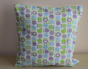Pillow cover - Apple pattern - 24 x 24 cm