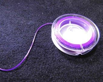 WIRE CORD MAUVE SATIN SILICONE - 10 M - PURPLE ELASTIC FIBER THREAD