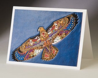 Hawk Art Card