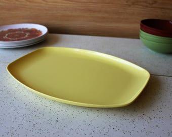 Sunny Yellow Melmac Party Platter Tray