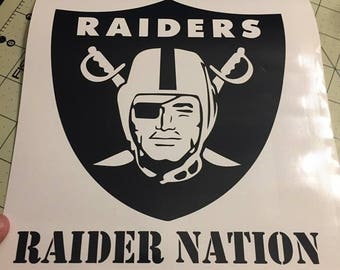 Raiders Decal Etsy