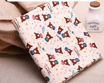1 x fabric coupon 50x160cm patchwork sewing Teddy bear Pink 8