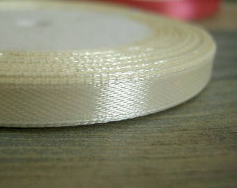 20 x m 1 roll of Brown 7mm satin ribbon