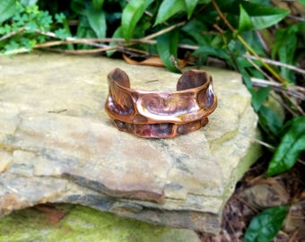 Air Chasing Copper Bracelet,Hand Hammered Bracelet,Cuff Bracelet, Copper Cuff, Copper Bracelet Women, Copper Bracelet, Copper Pipe Bracelet