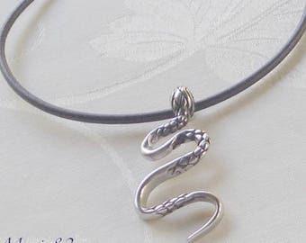 Snake pendant - Stainless steel