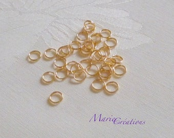 Double 6 mm - 18K gold plated rings