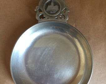 Antique Pewter Change Bowl