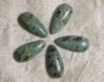 Cabochon stone - Turquoise of Africa - drop 25 x 12 mm 4558550036513