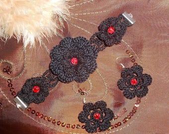 Crochet set earrings