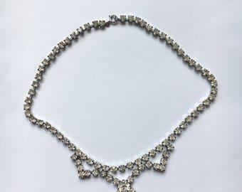 Vintage Rhinestone Crystal Necklace