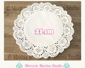 20 paper doilies lace diameter 21cm, for scrapbooking, wedding etc.