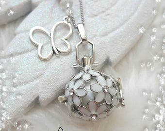 Pregnancy theme necklace * my cute flower *.