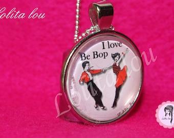 Necklace dance pattern 'i love be bop '.