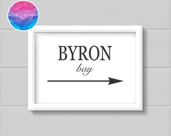 Byron Bay Home Décor Print by North C Designs