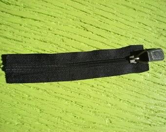 zipper plastic black seperable