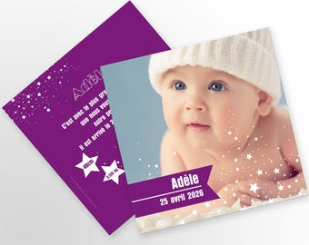 Customize - or - A girl birth announcement model Adele