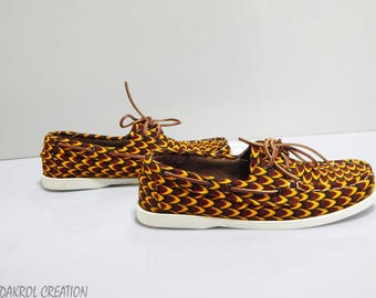 Shoe style Dockside in African print