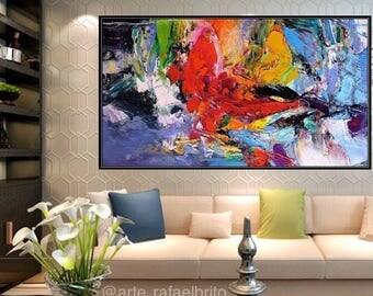 Abstract painting fullcolor relieve