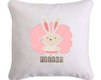 Lapinette pillow personalized with name