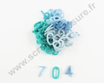 Felt - Figure blue 15mm - x 66 pcs