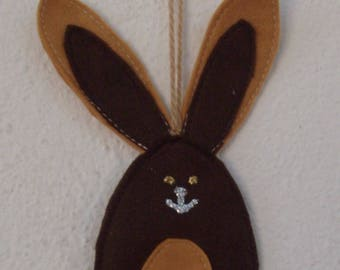 Easter decorations felt Brown and beige rabbit