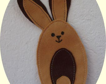beige and brown felt Bunny