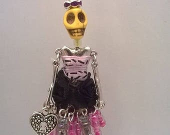 """Pendant necklace - Articulated Doll - """"Patotte Electra"""""""