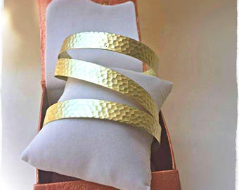 Minimal wide bracelet, elegant and simple