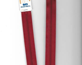 "Closure zipper""plastic"" not separable Z51 45cm red 850"