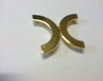 Clasp-half moon brass 3.5 cm