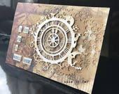 "original steampunk ""en route to new adventures"" card!"