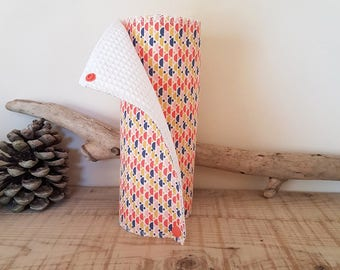 Washable paper towels - Zero waste - honeycomb and cotton - coral