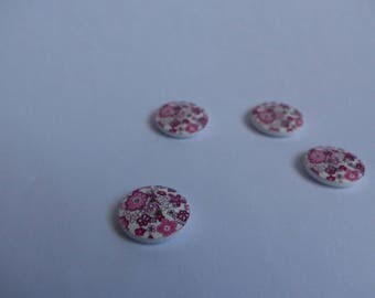 The flowers 18mm Diy wooden buttons