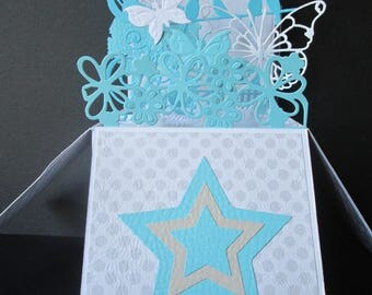 Great card pop up explosion for any occasion 20 cm X 20 cm