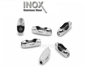 20 9x3mm stainless chain connector clasps ball 2 and 2.4 mm stainless steel M02908