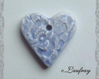 Blue lace heart