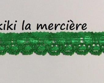lace, lace, elastic color green 1.5 cm coupon 50 cm