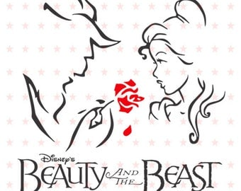 Beauty and the Beast Svg, Princess Belle Svg, Disney SVG File, Disney svg, Beauty and the Beast Vector, Beauty and the Beast Silhoutte